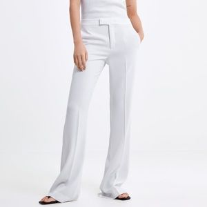 GORGEOUS ZARA Flared White Pants Trousers